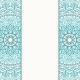Cartão do convite com mandala Imagem de Stock