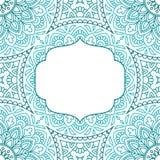 Cartão do convite com mandala Fotos de Stock Royalty Free