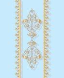 Cartão do convite com ornamento dourado Ilustração Stock