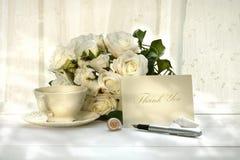 Cartão do convite da escrita com pena Foto de Stock