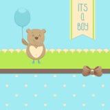Cartão do convite da festa do bebé Imagens de Stock Royalty Free
