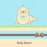 Cartão do convite da festa do bebé Foto de Stock Royalty Free