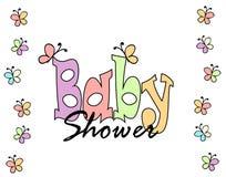 Cartão do convite da festa do bebé Fotografia de Stock