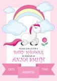 Cartão do convite da festa do bebé Imagens de Stock