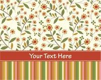Cartão do convite da flor ilustração do vetor