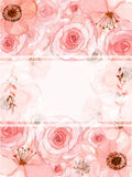 Cartão do convite da flor Imagem de Stock Royalty Free
