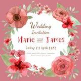 Cartão do convite da flor Fotos de Stock Royalty Free
