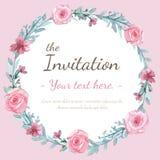 Cartão do convite da flor Fotografia de Stock Royalty Free