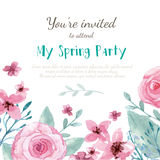 Cartão do convite da flor Foto de Stock