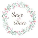 Cartão do convite da flor Foto de Stock Royalty Free