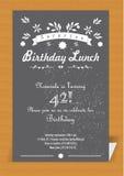 Cartão do convite da surpresa Fotografia de Stock