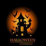 Cartão do convite de Halloween Foto de Stock Royalty Free