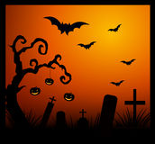 Cartão do convite de Halloween Fotografia de Stock Royalty Free