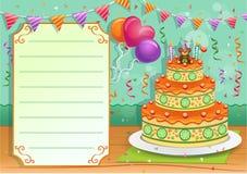 Cartão do convite do aniversário Ilustração do Vetor