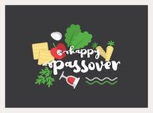 Cartão do convite do cartaz da ilustração da páscoa judaica EPS10 Imagens de Stock