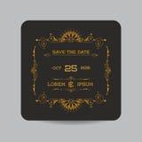 Cartão do convite do casamento Fotos de Stock