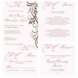 Cartão do convite do casamento Fotografia de Stock