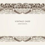Cartão do convite do casamento com o ornamento étnico de paisley da flor ilustração stock