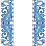 Cartão do convite do casamento com o ornamento étnico de paisley da flor ilustração do vetor