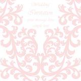 Cartão do convite do casamento com ornamento do laço Fotos de Stock