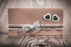 Cartão do convite do casamento na placa do wintage Imagem de Stock Royalty Free