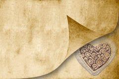 Cartão do convite do casamento no tom do sepia Fotografia de Stock Royalty Free