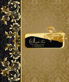 Cartão do convite do damasco Foto de Stock Royalty Free