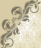 Cartão do convite do damasco Fotografia de Stock Royalty Free