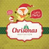 Cartão do convite do Natal Imagens de Stock