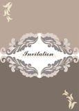 Cartão do convite do ornamento floral Ilustração do Vetor