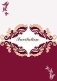 Cartão do convite do ornamento floral Ilustração Stock