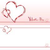 Cartão do convite do Valentim Fotos de Stock