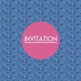 Cartão do convite do vetor Foto de Stock