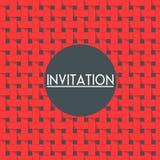 Cartão do convite do vetor com fundo do weave Foto de Stock