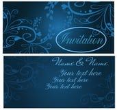 Cartão do convite do vintage Fotografia de Stock