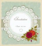 Cartão do convite do vintage Foto de Stock