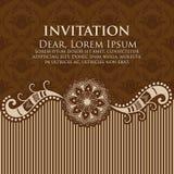 Cartão do convite e do anúncio do casamento com arte finala do fundo do vintage Molde do projeto Imagens de Stock Royalty Free