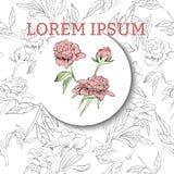 Cartão do convite do evento com fundo floral ilustração royalty free