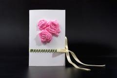 Cartão do convite feito a mão imagem tridimensional para feriado o 8 de março Fotos de Stock Royalty Free