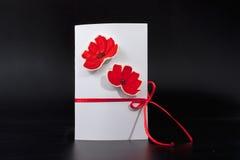 Cartão do convite feito a mão imagem tridimensional para feriado o 8 de março Imagem de Stock Royalty Free
