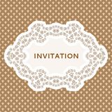 Cartão do convite. Fundo do vintage com lugar para Fotografia de Stock Royalty Free