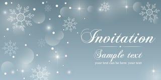 cartão do convite do inverno Foto de Stock Royalty Free