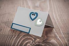 Cartão do convite na madeira do vintage Foto de Stock