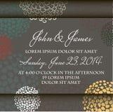 Cartão com fundo floral abstrato. ilustração stock