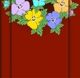 Cartão com fundo floral abstrato. Imagem de Stock Royalty Free