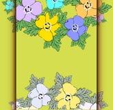 Cartão com fundo floral abstrato. Fotos de Stock