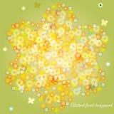 Cartão do convite ou de casamento com fundo floral abstrato Fotos de Stock