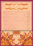Cartão do convite para jovens, inseto, cartão, folheto, convites do casamento Fotografia de Stock