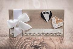 Cartão do convite para wedding Fotografia de Stock Royalty Free