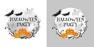 Cartão do convite do partido de Halloween Ilustração Royalty Free